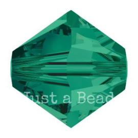 5328 biconische kraal 4 mm emerald (205)