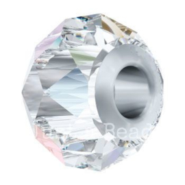 5940 BeCharmed Briolette Bead 14 mm Crystal AB Steel (001 AB)