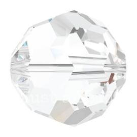 5000 kraal rond facet 4 mm crystal (001)