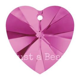 6228 Xilion heart pendant 18 x 17,5 mm Fuchsia (502)