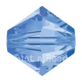 5328 biconische kraal 4 mm light sapphire (211)