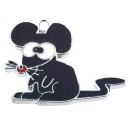 bedel epoxy zwarte muis 27 x 32mm