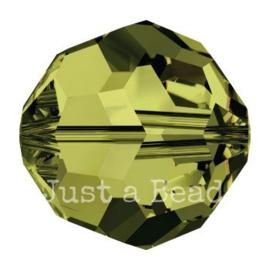 5000 kraal rond facet 4 mm olivine (228)