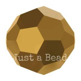 5000 kraal rond facet 8 mm crystal dorado 2x (001 DOR2)