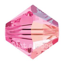 5328 biconische kraal 8 mm rose AB (209 AB)