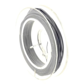 Rolletje staaldraad 0.38 mm nyloncoated p/10 mtr