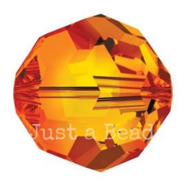 5000 kraal rond facet 8 mm fire opal (237)
