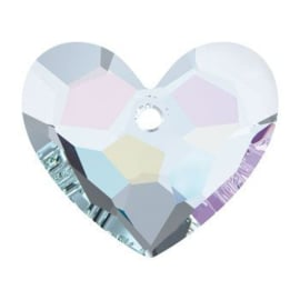 6264 Truly In Love Heart Pendant 36 x 31 mm Crystal AB (001 AB)