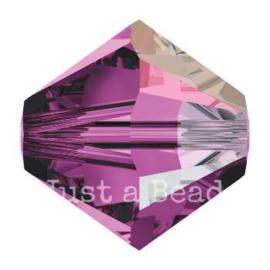 5328 biconische kraal 4 mm amethyst AB (204 AB)