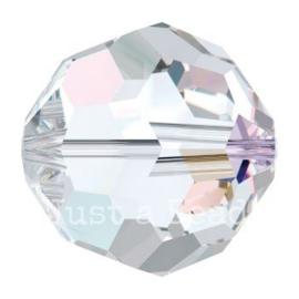 5000 kraal rond facet 5 mm crystal AB (001 AB)