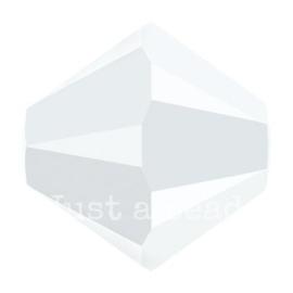 5328 biconische kraal 6 mm white alabaster (281)