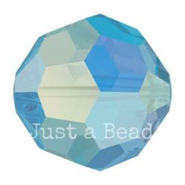 5000 kraal rond facet 6 mm capri blue AB (243 AB)