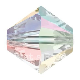 5328 biconische kraal 4 mm crystal AB (001 AB)