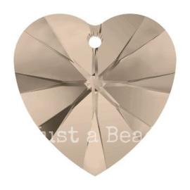6228 Xilion heart pendant 18 x 17,5 mm Greige (284)