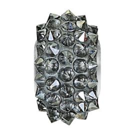 80401 BeCharmed Pavé Spikes Bead  Crystal Silver Shade 001 SSHA 16 mm