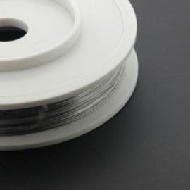 Rol staaldraad 0.38 mm nyloncoated staalkleur p/100 meter