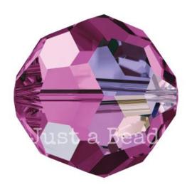 5000 kraal rond facet 5 mm amethyst AB (205 AB)
