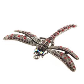 hanger libelle met strass 7 x 5 cm p/st