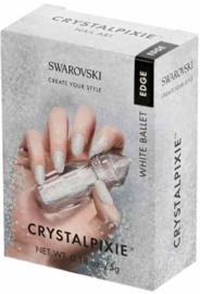 """Crystal Pixie """"White Ballet"""" Edge  (Nail Art)"""