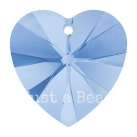 6228 Xilion heart pendant 18 x 17,5 mm Light Sapphire (211)