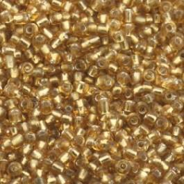 Rocailles 12/0 per 20 gram crystal/goud