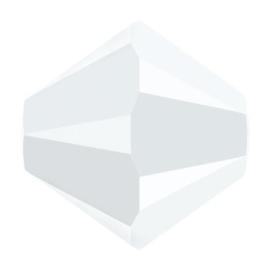 5328 biconische kraal 5 mm white alabaster (281)