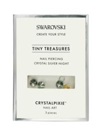 "Crystal Pixie ""Tiny Treasures"" Nail Piercing Crystal Silver Night"