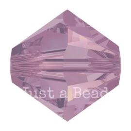 5328 biconische kraal 4 mm cyclamen opal (398)