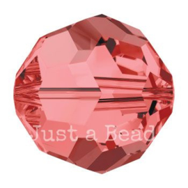 5000 kraal rond facet 4 mm padparadscha (542)