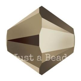 5328 biconische kraal 4 mm crystal metallic light gold (001 MLG2)