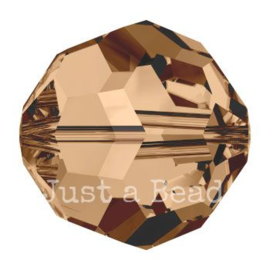 5000 kraal rond facet 6 mm light smoked topaz AB (221 AB)