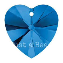6228 Xilion heart pendant 18 x 17,5 mm Sapphire (206)