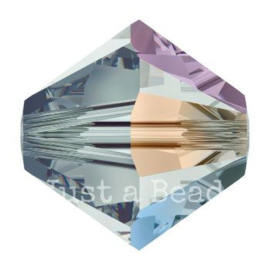 5328 biconische kraal 4 mm black diamond AB (215 AB)