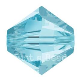 5328 biconische kraal 8 mm aquamarine (202)