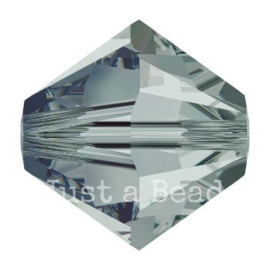 5328 biconische kraal 4 mm black diamond (215)