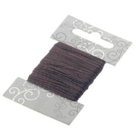 rijgdraad nylon 0,4mm p/20 meter op kaartje donkerbruin
