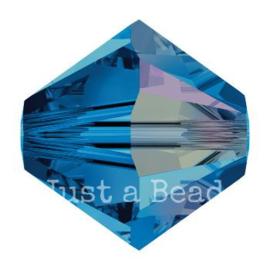 5328 biconische kraal 4 mm capri blue AB (243 AB)