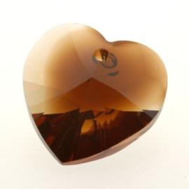 6228 Xilion heart pendant 18 x 17,5 mm topaz blend (722)