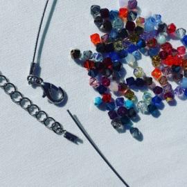 DIY  Rainbow collier Swarovski kralen