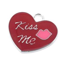 "bedel epoxy hart ""kiss me""  20 x 22mm"