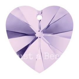 6228 Xilion heart pendant 18 x 17,5 mm Violet (371)
