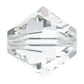 5328 biconische kraal 4 mm crystal (001)