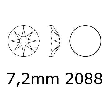 2088 plaksteen 7,2 mm / SS 34 Crystal F (001)