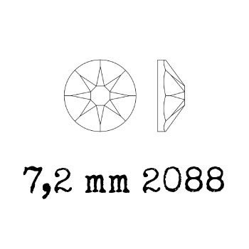2028 plaksteen 7,2 mm / SS 34 Crystal F (001)