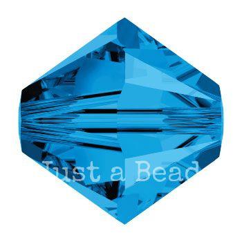 5328 biconische kraal 4 mm capri blue (243)
