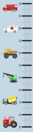 Groeimeter poster voertuigen