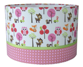 Hanglamp forest friends pink