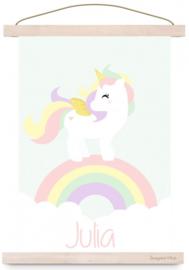 Poster unicorn met naam