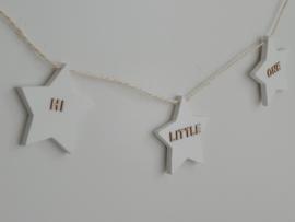 Houten slinger sterren met naam
