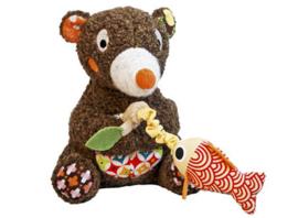 Ebulobo muziekknuffel beer
